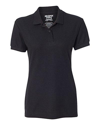 Gildan Womens DryBlend 6.3 oz. Double Piqué Sport Shirt (G728L) -BLACK -M