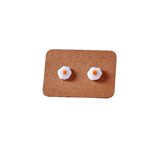 ZJHGQ Pendientes de huevo frito con diseño de huevo escalfado, pendientes colgantes con colgante de gota para mujer, niña, color naranja
