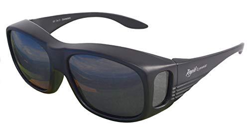 Rapid Eyewear SOVRAOCCHIALI da Sole per Uomo e Donna: Neri: POLARIZZATI Occhiali da Sole sovrapponibili per Sport, Guida, Corsa, Vela, Ciclismo, Pesca. Protezione UV 400