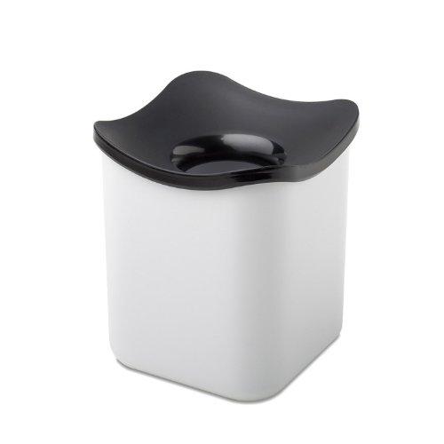 Mepal Tischabfallbehälter Cube, Melamin, Weiß, 12 x 12 x 13.6 cm