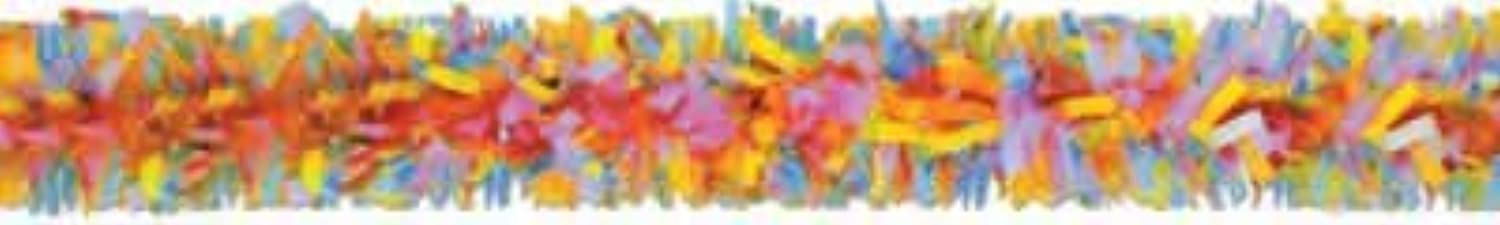 Beistle Party Decoration Packaged Tissue Festooning 25' Multicolor  Pack of 12
