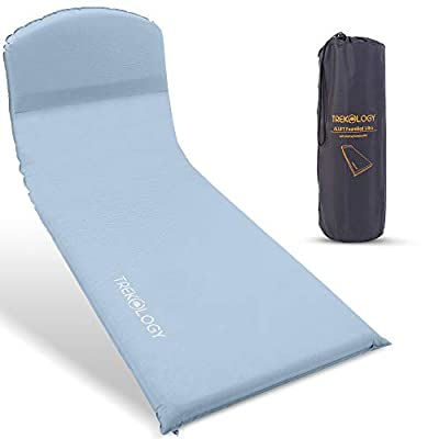 TREKOLOGY Self Inflating Sleeping Pad for Camping, 3 inches Thick Foam Camping Mat Sleeping Mat, Cold Weather Outdoor Camping Sleeping Pads, Air Mattress, Cot Pad for Tent, Car Camping, Backpacking