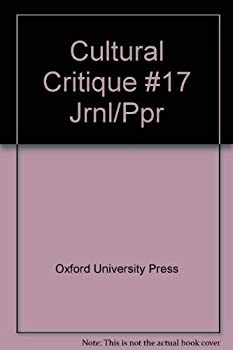 Paperback Cultural Critique: Issue Number 17 Book