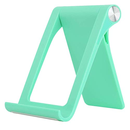 Hainice Teléfono Celular Titular de Escritorio Plegable Soporte para teléfono de Escritorio Soporte Ajustable de la Tableta Rack Muelle de la Horquilla para Smartphone Tablet Verde