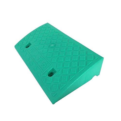 Hoge Kwaliteit 11/13CM Gekleurde Plastic Driehoek Pad, In het oog springende Laadoprijplaten Appartement Hotel Drempeloprijplaten Grasmaaier Caravan Uphill Pad Praktisch 50 * 27 * 11CM Groen