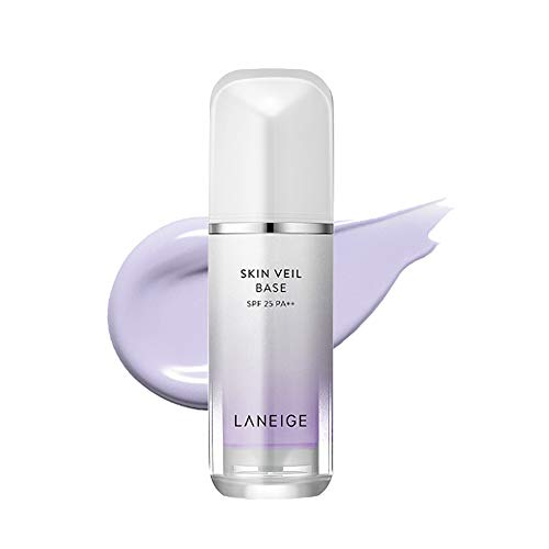 Laneige Piel 30ml velo Base SPF25 PA +++ Corrector de maquillaje Todo tipo de piel (No.40 luz púrpura)