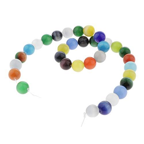 MagiDeal La Piedra del ópalo Colorida Afortunada Tiene Los Resultados de La Joyería para Los Pendientes de Las Pulseras - Multicolor, 12mm 30pcs