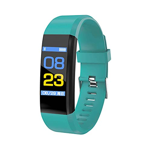 HJYBYJ 115 Plus Smart Watch Pulsera Pantalla De Color Fitness Sports Pedómetro Mira Actividad De Fitness Tracker para Hombres Mujeres (Color : Green)