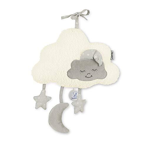 Sterntaler Spieluhr, Wolke mit Mond und Sternen, Integriertes Spielwerk, Größe: L, Beige