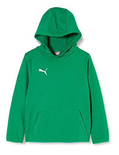 Puma Liga Casuals Hoody Jr, Felpa Unisex-Bambini, Verde (Pepper Green White), 140