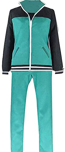 Poetic Walk Kono Subarashii Sekai ni Shukufuku o! KonoSuba Kazuma Satou Cosplay Costume Suit (XX-Large, Green)