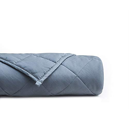 YnM Weighted Blanket (22 lbs, 60''x80'', Queen Size) for People Weigh Around 210lbs | 2.0 Cozy Heavy Blanket | 100% Oeko-Tex Certified Cotton Material with Premium Glass Beads, Dark Grey