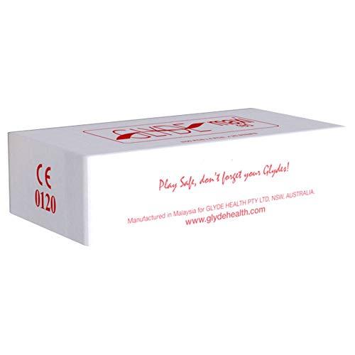 Glyde Ultra Maxi Red 100 große Condome, rote XXL-Kondome, vegane Kondome ohne Casein