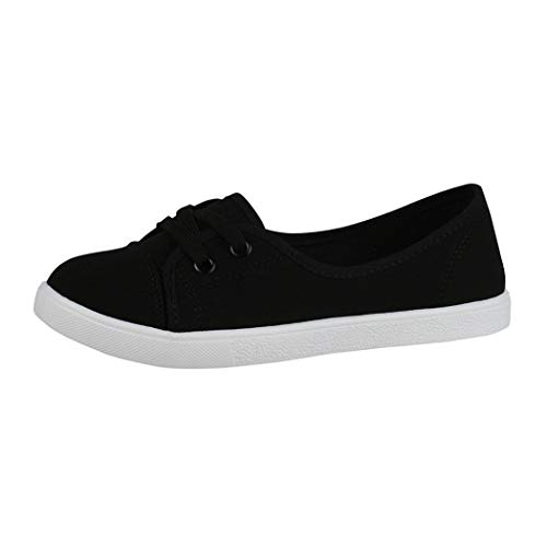 Elara Bailarina Mujer Sneaker con Cordones Chunkyrayan Negro CL33311 Black-38