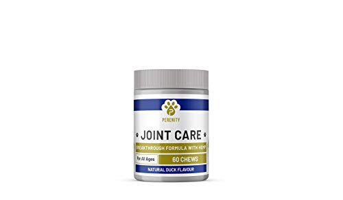 Perenity Hip & Joint Supplement for Dogs w/Hemp Oil + Hemp Powder - Glucosamine Chondroitin for Dogs w/Turmeric, MSM, Green Lipped Mussel Duck(60)