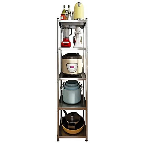 Carros de Almacenamiento Carro Cocina Baño Ajustable Estante de la Torre del Almacenamiento de la Cocina, de Pie Unidad de Estantería Estrecha para Oficina en Casa, 32,5 cm de Ancho Soporte de Exhibic