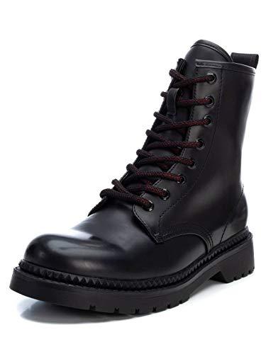 XTI - Botín Militar para Mujer - Color Negro
