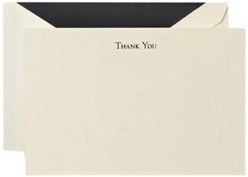 Crane & Co. Black Hand Engraved Thank You Cards (CT3302)