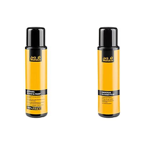 Jack Wolfskin Apparel 300ml PFC-Free Clothing Cleaner & Waterproofer & Pflegemittel Universal Cleaner Plus, transparent, 9 x 9 x 19 cm, 0.3 Liter