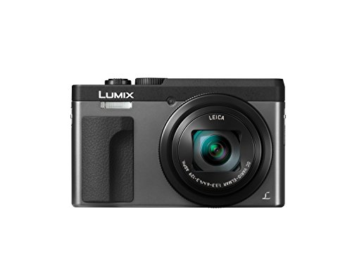 Panasonic LUMIX TZ91 High-End Reisezoom Kamera (LEICA Objektiv, 30x Opt. Zoom, 24 mm Weitwinkel, Sucher, 4K) silber