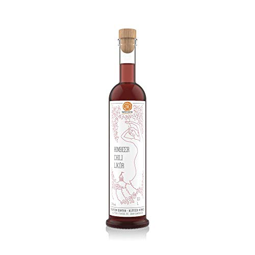 TROPFEN KONTOR Himbeer Chili Likör (0,2 l) Fruchtschnaps Himbeerlikör 25% vol. Alkohol Obstschnaps Beeriger Fruchtlikör Schnaps