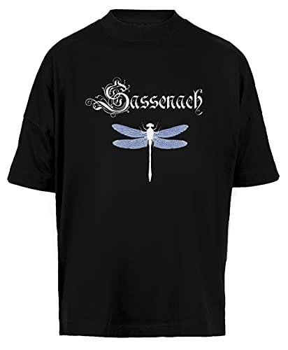 Sassenach Unisex Camiseta Holgada Hombre Mujer Mangas Kortas Negra Tamaño L - Unisex Baggy T-Shirt Black