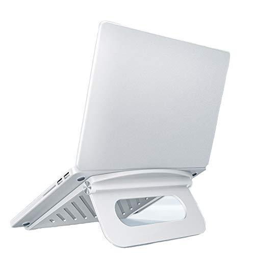 Soporte para portátil plegable, ajustable, con almohadilla de silicona antideslizante. Admite el uso de una computadora portátil de 7-17 pulgadas, soporte ergonómico para computadora portátil.