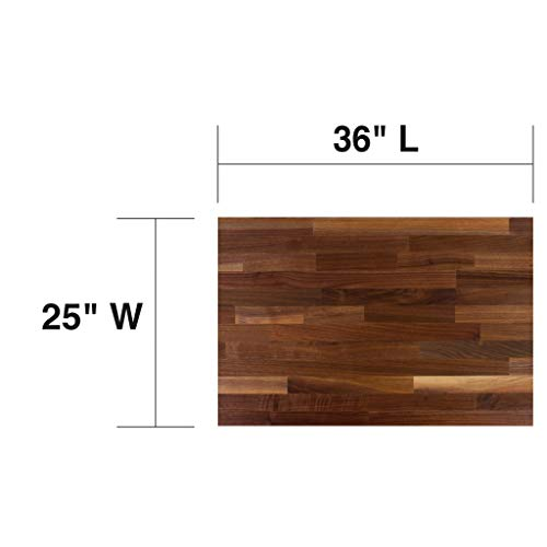 John Boos WALKCT-BL3625-O Blended Walnut Counter Top with Oil Finish, 1.5