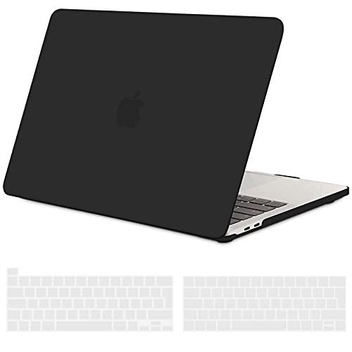 TECOOL Funda para 2016-2020 MacBook Pro 13 (Modelo: A2338 M1/A2289/A2251/A2159/A1706/A1989), Cubierta de Plástico Dura Case Carcasa y Tapa del Teclado para MacBook Pro 13.3 con Touch Bar - Negro