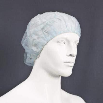 Gorro desechable circular fabricado con tejido no tejido de polipropileno blanco, 53cm de diámetro con elásticos.Caja de 1000U
