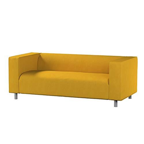 Dekoria Klippan 2-Sitzer Sofabezug Sofahusse passend für IKEA Modell Klippan senffarbe