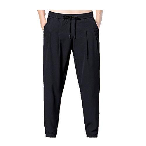 N\P Verano Delgado Jogging Pantalones De Los Hombres Joggers Harén Pantalones De Cintura Elástica Deporte Casual Pantalones Más El Tamaño