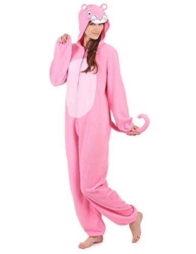 Generique - Traje con Capucha Pantera Rosa Mujer