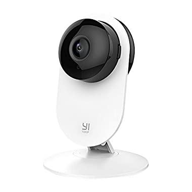 YI 1080p Home Camera, Indoor IP Security Surveillance System with Night Vision for Home/Office / Baby/Nanny / Pet Monitor with iOS, Android App - Cloud Service Available