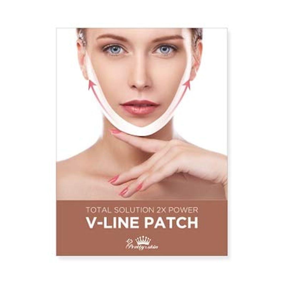 助手ナビゲーション事前にpretty skin プリティスキン V-LINE PATCH ブイラインパッチ リフトアップ マスク (5枚組, ホワイト)