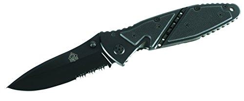 Puma TEC Unisex– Erwachsene Messer Einhandmesser G-10-Schalen Länge geöffnet: 20.0cm, grau, M
