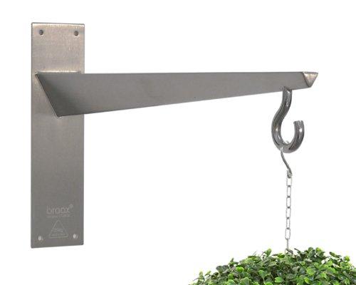 Braax - Zubehör für Wildvogelfutterstationen in silber, Größe W40 x H22.5 x D6 (cm)