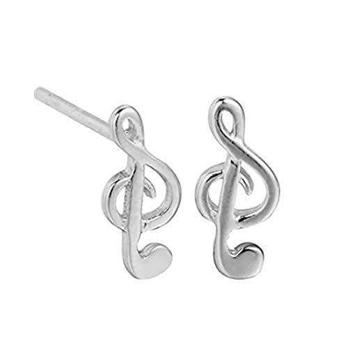 Pendientes de plata de ley, nota musical, joyería simbólica, regalo de música, regalo de profesor, regalo de graduación, regalo de músico