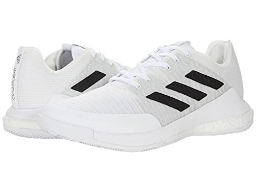 adidas Men's Crazyflight Volleyball Shoe, White/Black/Grey, 11.5