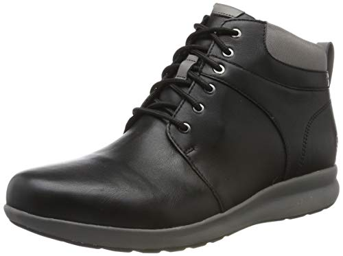 Clarks Un Adorn Walk, Damen Kurzschaft Stiefel, Schwarz (Black Leather Black Leather), 41 EU