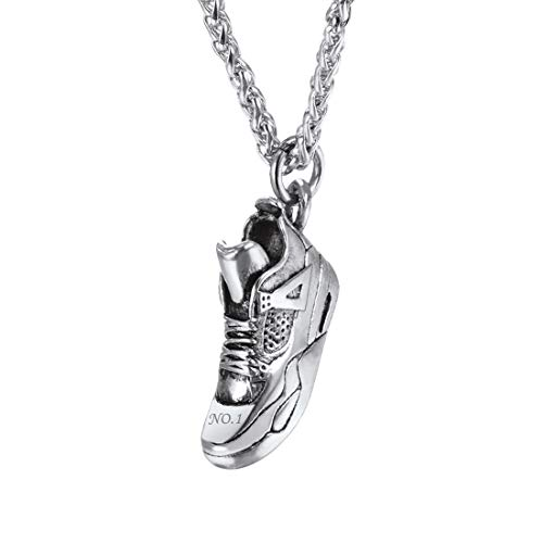 U7 Collar Personalizable Zapatilla de Baloncesto Collar de Sneaker de Baloncesto Aire Libre Jordan Vintage Retro Regalo de Hombre
