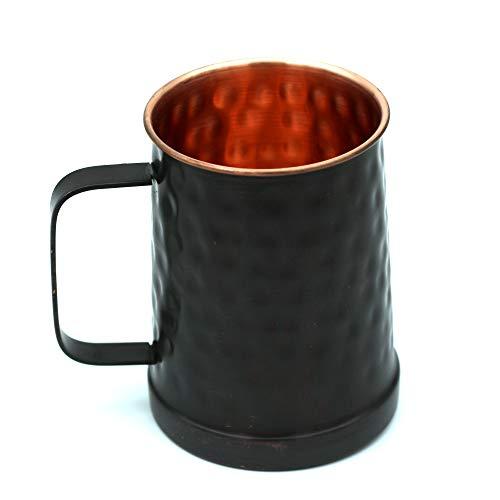 Black Hammered German Style Copper Beer Stein  100% Pure Heavy Gauge Copper Beer Mug 20 Oz