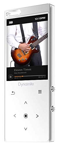 SAMVIX Dynamite MP3 Player 8GB with Bluetooth, Touch Buttons, Voice Recorder, Speaker, Kosher MP3 Players Without Radio, NO Video, NO Pictures White