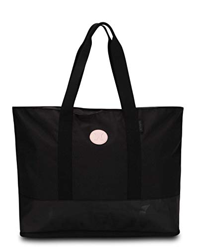 Hurley W Solid Beach Tote Bolsa, Mujer, Light Carbon, 1SIZE
