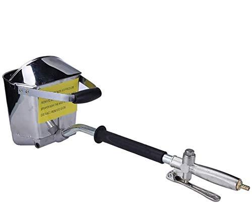 HUKOER Zementmörtel Spritzpistole + Mit Deckel 4 Jet Hopper Gipsbeton Zementspritzpistole Stucksprühgerät für Wände und Decken DIY + 4 Düsen zum traditionellen Stucken