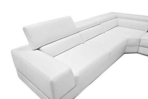 Limari Home Polo Sectional Sofa White 3