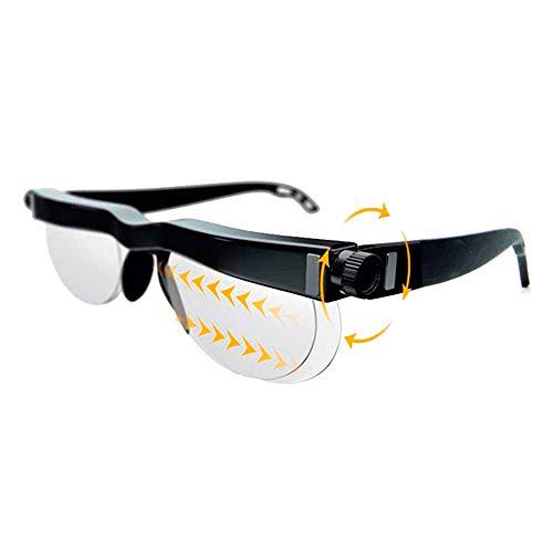 イーチャンス ビズマックス セルフアジャストグラス 遠近両用 めがね 片目ずつ 度数調整 遠視 近視 メガネ リーディンググラス 軽量 視力検査表 ケース&クロス付き (単品)