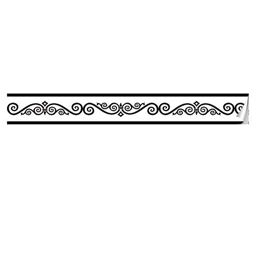 Pegatinas de azulejos de cocina, pegatinas de azulejos de línea de cintura con patrón de espalda retro, pegatinas de pared de advertencia de baño y cocina -004