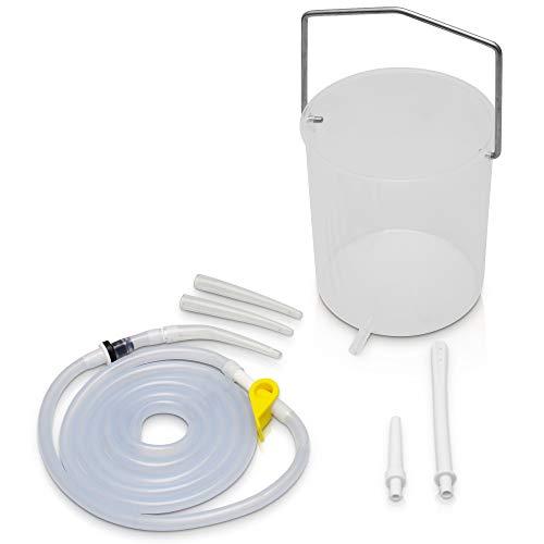 Zenatura Irrigador Anal Limpiador de Colon - Kit de Cubo de Enema con Entrada para Auto-Aplicación - Detox - Limpieza de Colon en casa - 2 litro