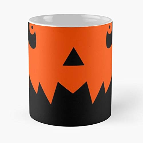 Yoyoloco Meme Pumkin Animal Patterns Crossing Face Dog Halloween Best 11 oz Kaffeebecher - Nespresso Tassen Kaffee Motive